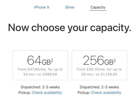 iPhone X在欧洲的发货时间缩短为2到3周