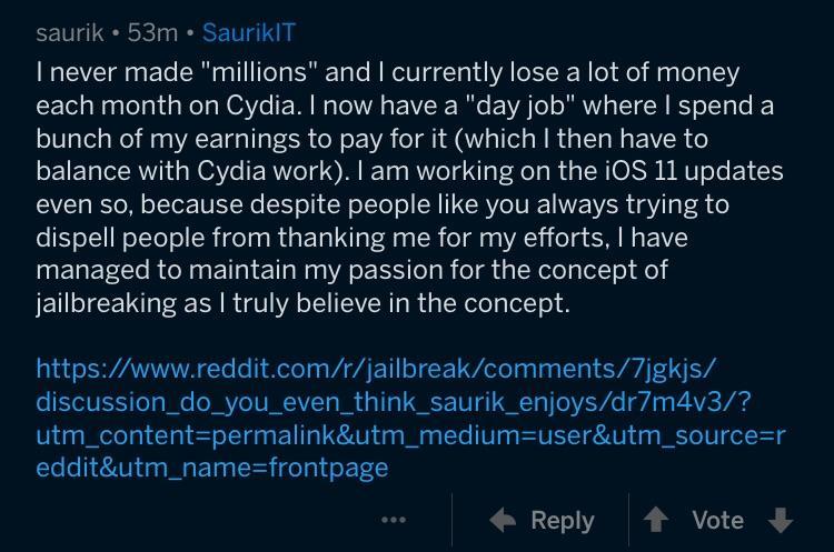 Saurik证实正在为Cydia适配iOS 11越狱
