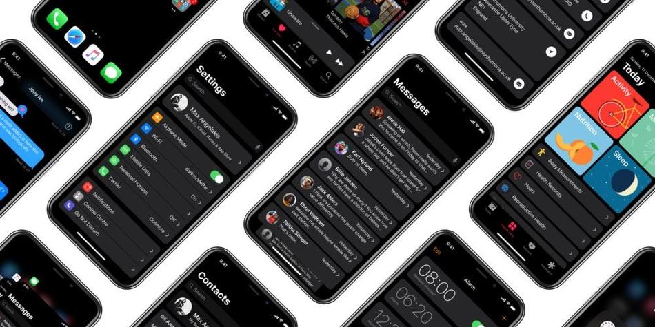 iPhone X全黑界面渲染图 效果非常酷