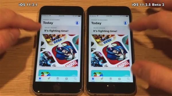 iOS 11.2.5新版速度测试 启动快多了