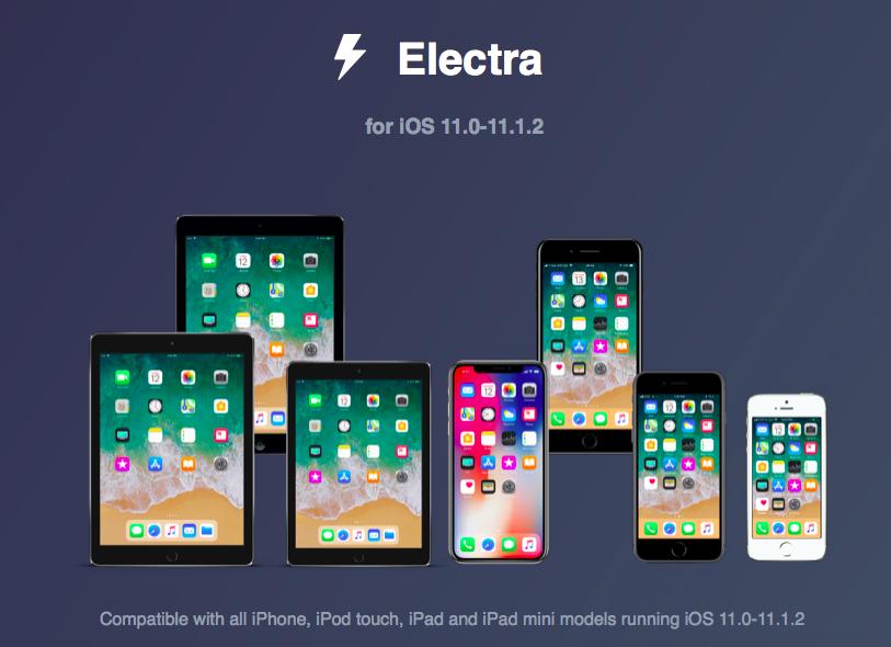 Electra越狱工具来袭 支持iOS11~11.1.2[新形式越狱]