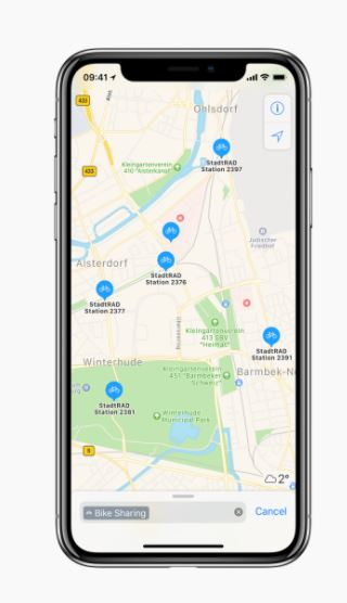不断完善:苹果地图已可查询全球179个城市共享单车数据