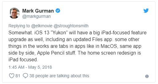 更强大 iOS 13将为iPad带来多个重大升级