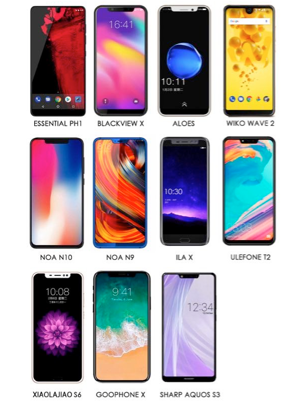 iPhoneX给刘海屏开了个坏头,但是大家都在学