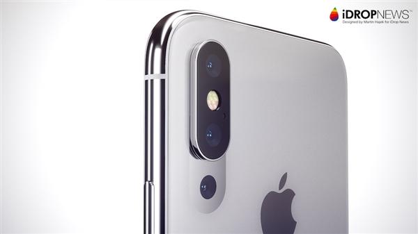iPhone明年上三摄像头!首次支持3倍光学变焦