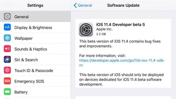 iOS11.4beta5值得更新吗? iOS11.4beta5更新了什么内容