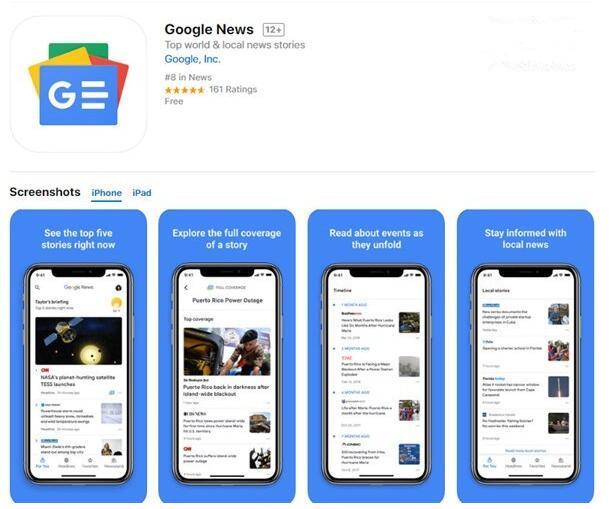 AI帮你挑新闻:谷歌新闻服务Google News登陆苹果iOS