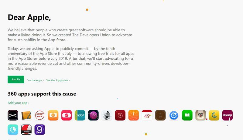 开发者联盟:苹果应降低分成 开放免费试用