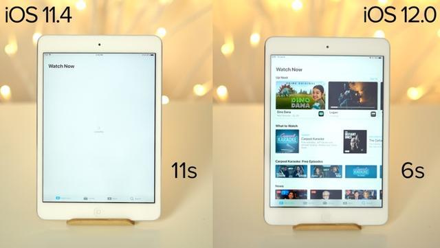 iPhone 6等旧款型号升iOS 12速度怎么样?实测对比告诉你