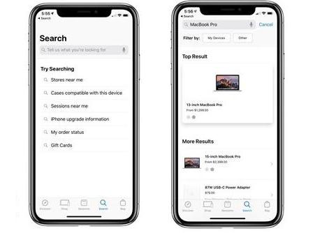 苹果更新Apple Store应用程序:搜索显著改进