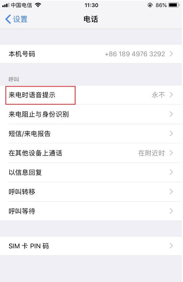 iPhone手机怎样设置可以自动说出来电人姓名?