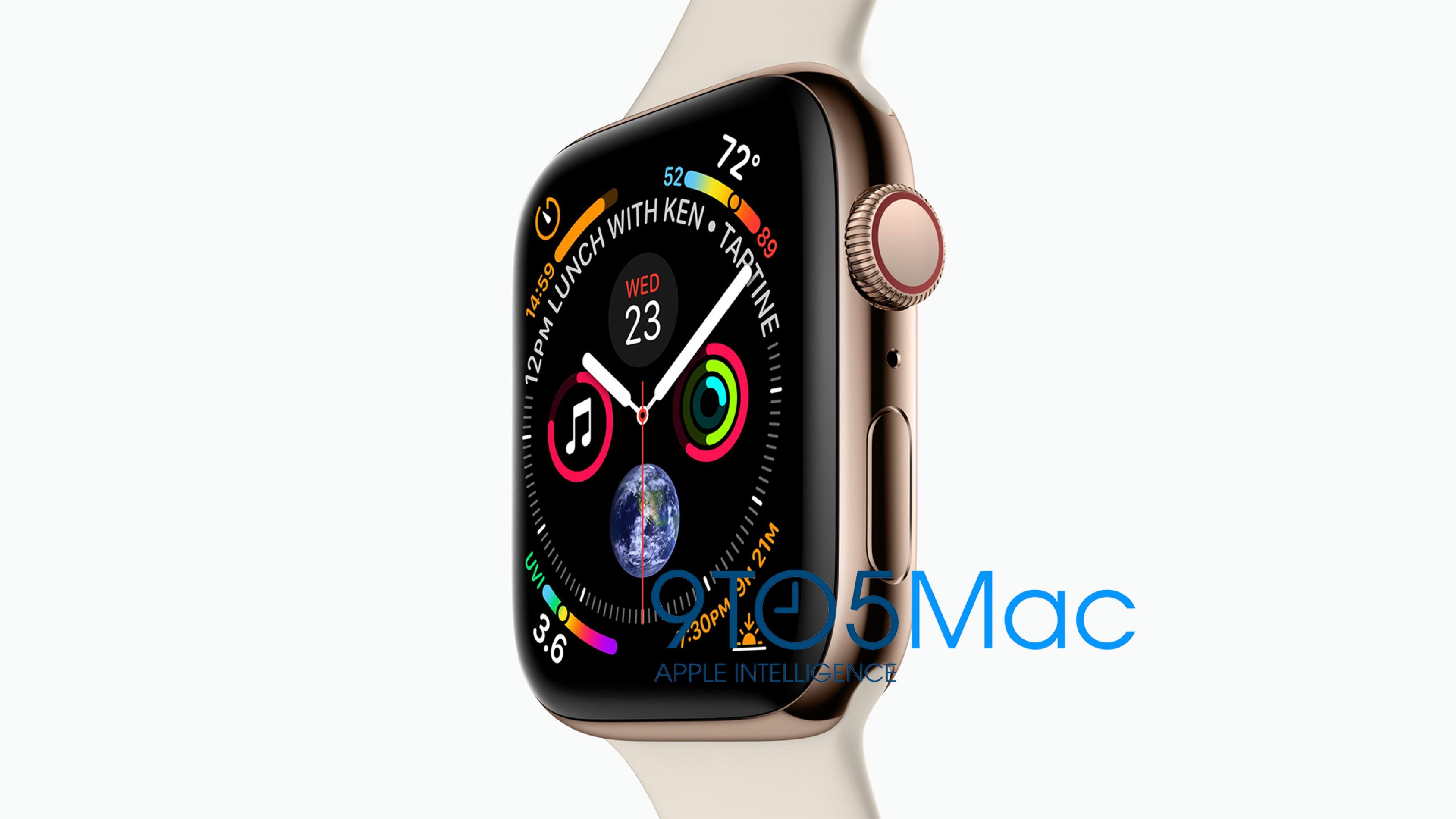 Apple Watch S4泄图:大屏幕 新表盘