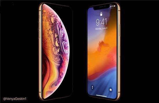 苹果iPhone XS金色版渲染图曝光:金色边框+粉白后壳