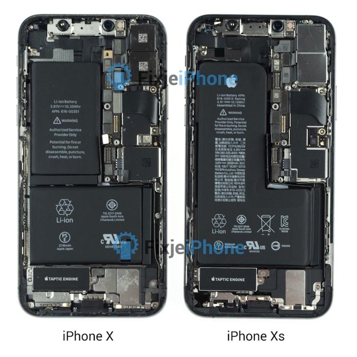 iPhone XS 外站拆解:单个L形电池是最大变化