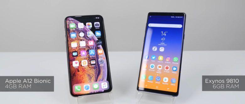 性能测试:苹果iPhone XS Max对比三星Note 9