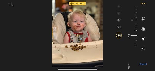 iPhone XS/XS Max 如何在拍摄时调整照片的景深效果?