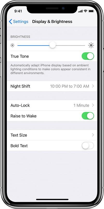 iPhone XS/XS Max「自动调节亮度」及「抬起唤醒」的开启方法