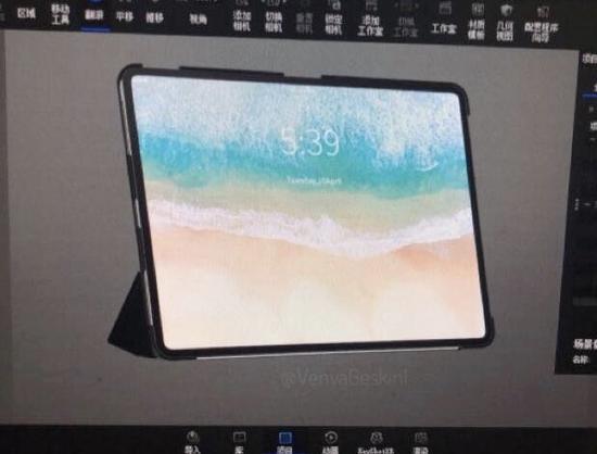 iPad Pro(2018)CAD渲染图曝光:极窄边框设计