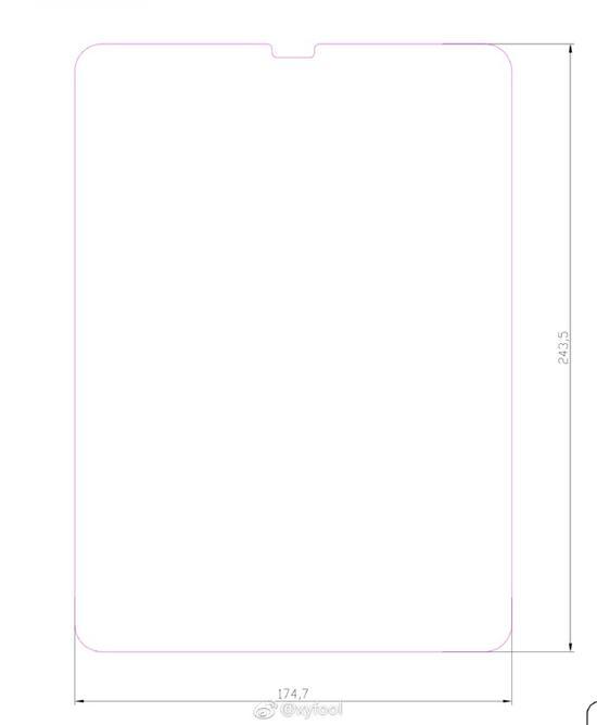 两款新iPad Pro玻璃膜及尺寸曝光