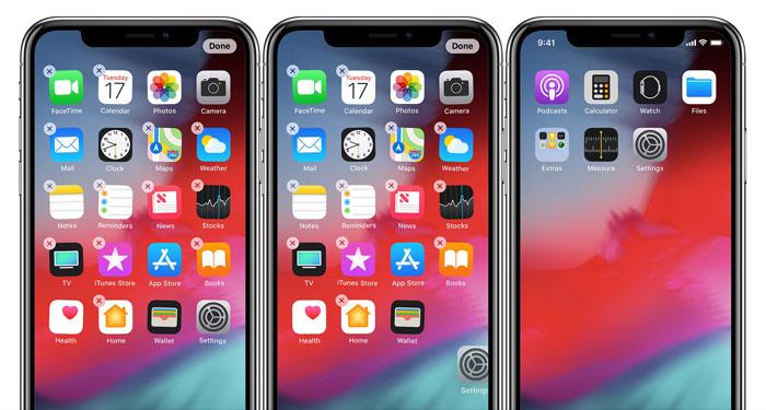 简单 3 步整理 iPhone XS/XS Max 桌面