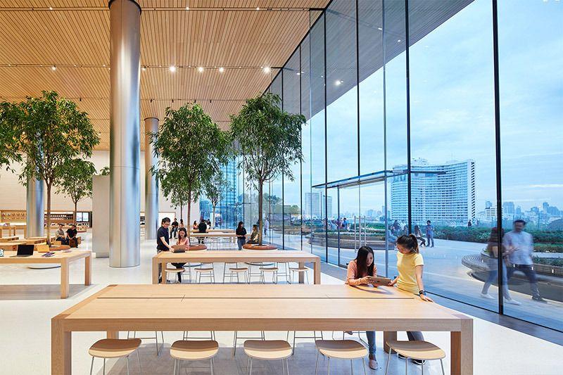 泰国首店本周六开业:苹果分享内部照片