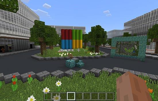 厉害了!《我的世界》出现微软新总部