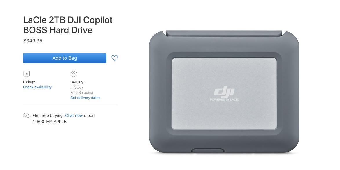 苹果针对大疆无人机、相机外设上架 LaCie 2TB 硬盘,兼容 iOS 设备