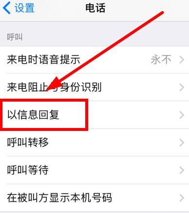 iPhone XS 设置来电自动回复短信教程