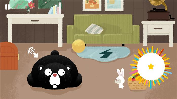不掉毛的兔子和大傻熊的日常 魔性音游节奏丛林试玩