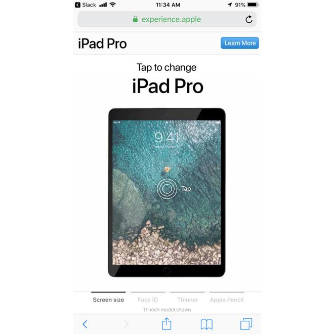 苹果上线全新互动页面宣传新款 iPad Pro