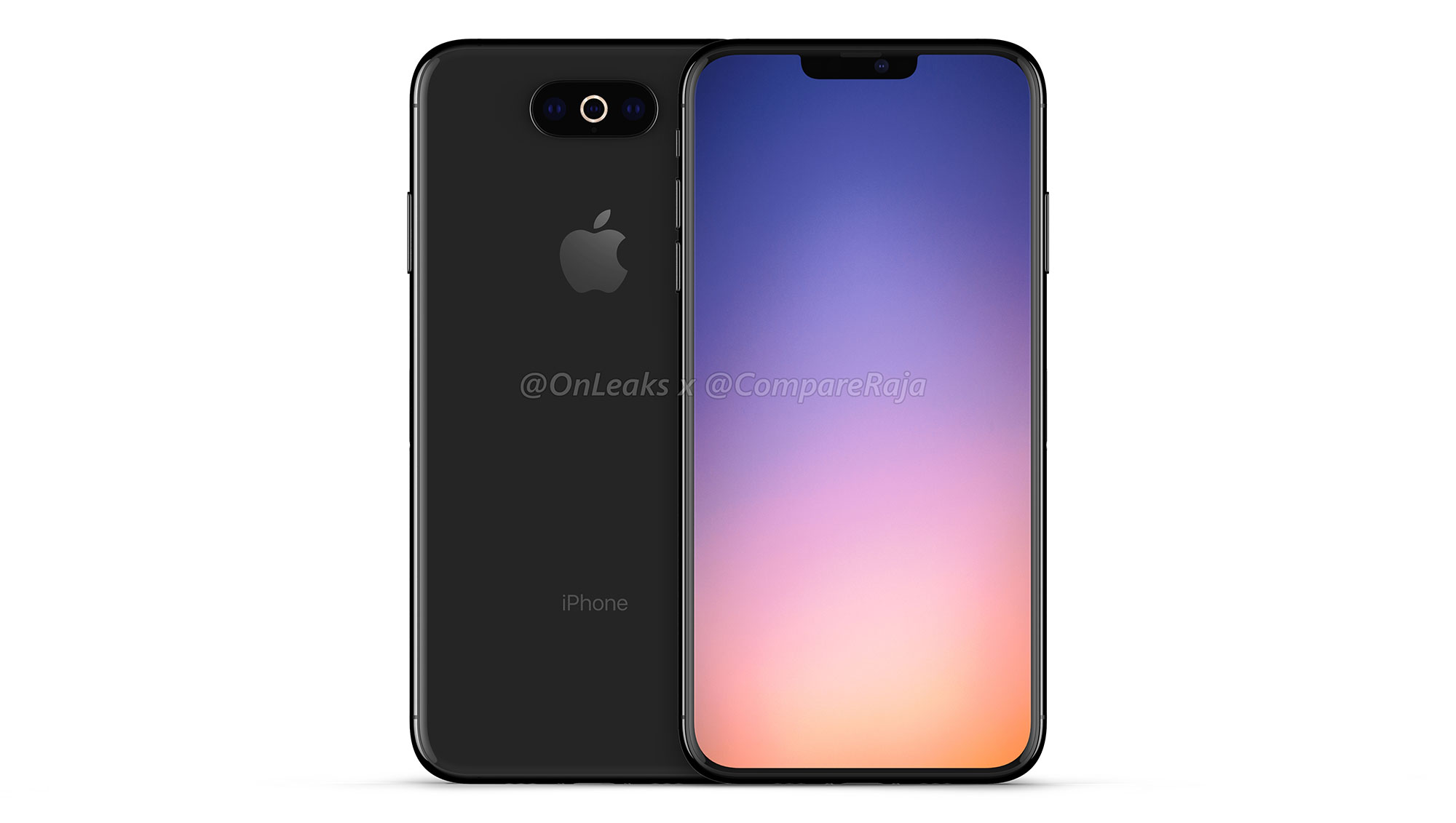 Onleaks 渲染全新 iPhone Xl:三摄像头横置、刘海缩小