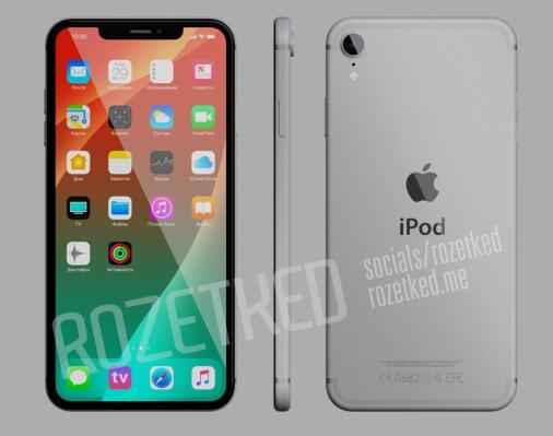 苹果 iPod Touch 7 概念渲染图放出:刘海全面屏加持