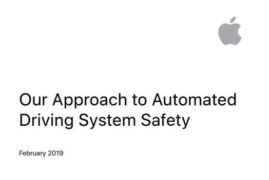 苹果发布 Project Titan 汽车项目的测试安全报告