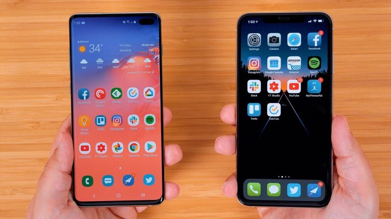 Galaxy S10+ 与 iPhone XS Max 最全跑分对比来了