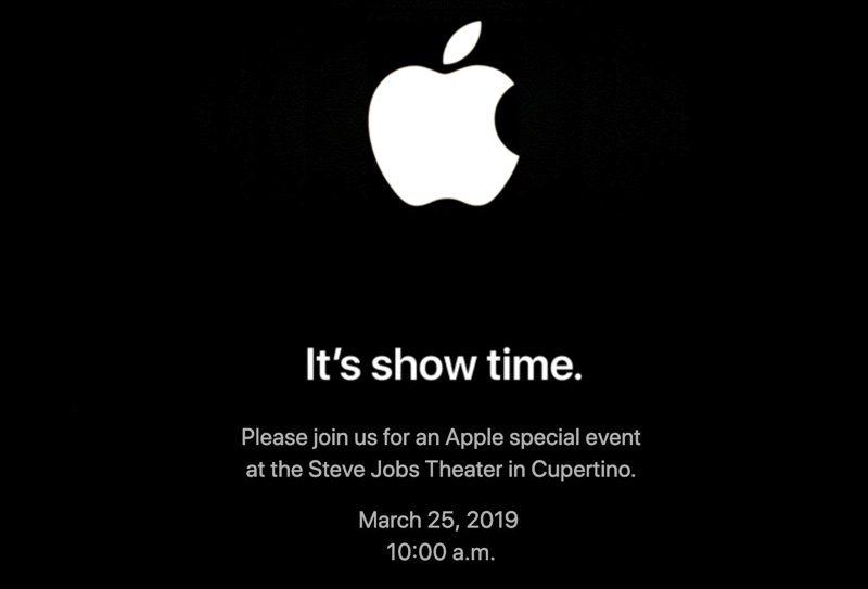 苹果将于 3 月 25 日召开「It's show time」发布会
