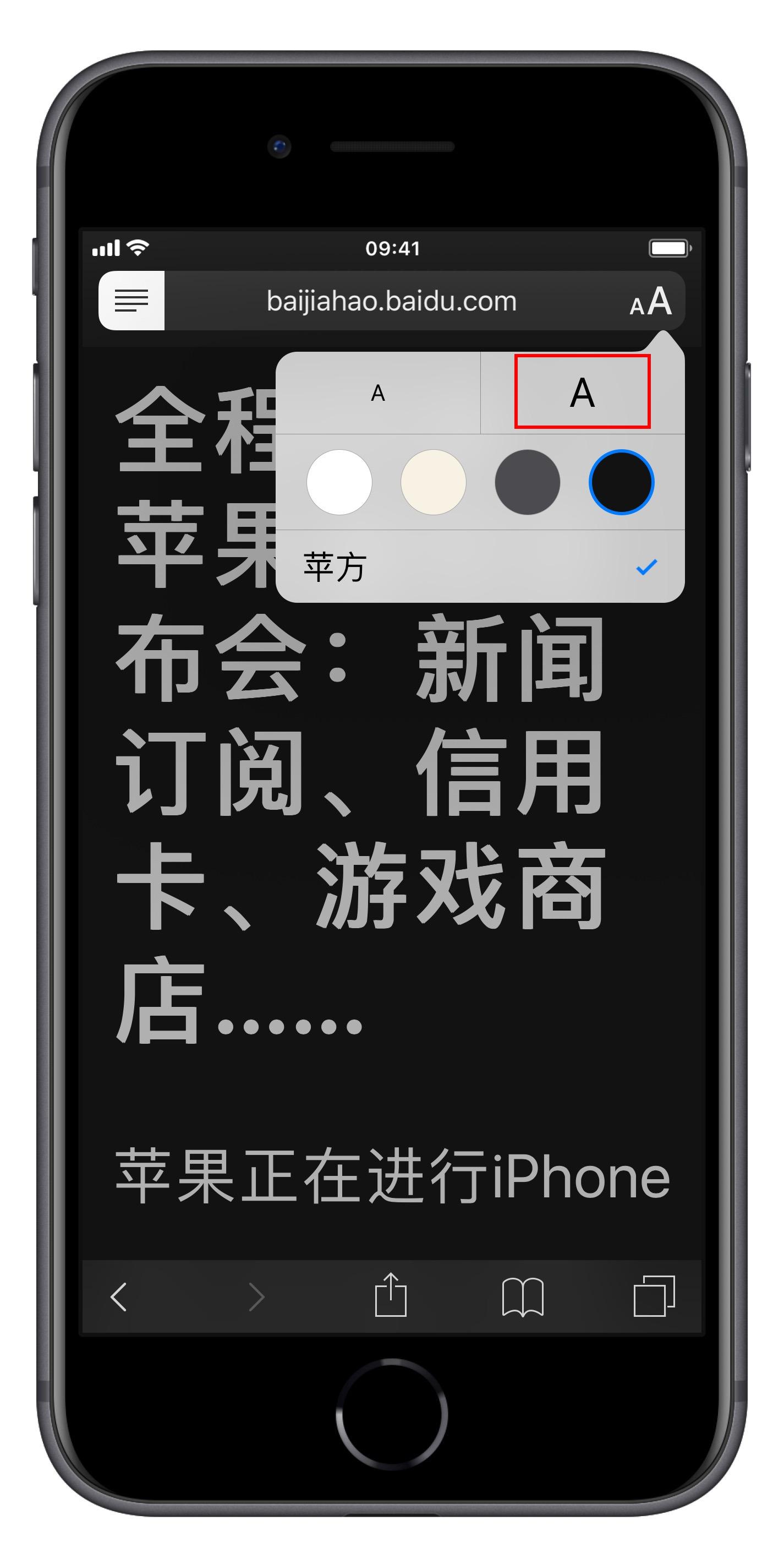 教你在 iPhone 上设置更大的字体