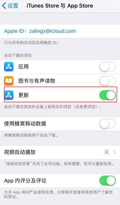 iPhone XS Max 如何关闭软件自动更新?