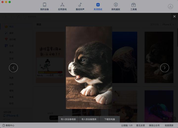 「爱思助手」Mac 版教程:如何为 iPhone 下载设置壁纸?