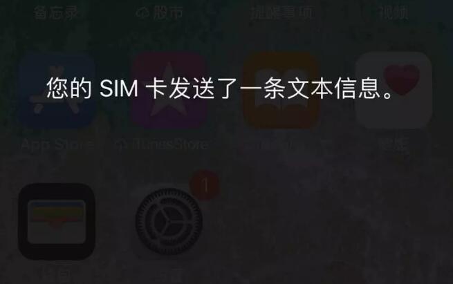 "iPhone 经常弹出提示""SIM 卡发送了一条文本信息"",如何解决?"