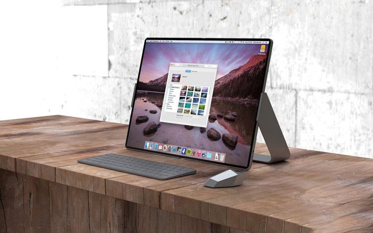 概念设计:可折叠 iPad 设备,支持鼠标和 Apple Pencil