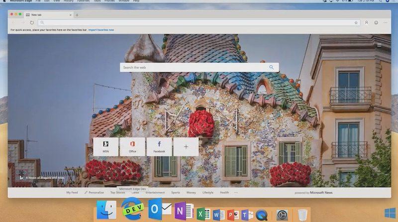 微软在年度 Build 开发者大会上展示全新 Mac 版 Edge 浏览器