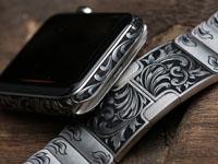 超帅!42mm不锈钢Apple Watch雕刻定制版