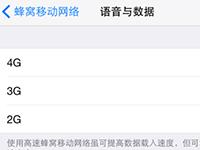 iOS9越狱屏蔽移动3G实现2G/4G切换的方法