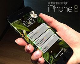 发福利啦!最接近iPhone 8 Edge概念的壁纸
