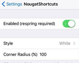 越狱插件NougatShortcuts:让3D Touch快捷菜单变个样儿