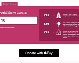 Apple Pay在英国地区也开始接受慈善捐款了