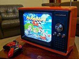 高手在民间!国外玩家将古董电视改装成游戏机
