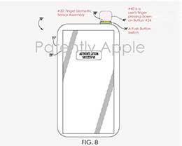 苹果iPhone新专利曝光:电源键集成指纹识别技术