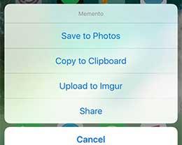 插件Memento:可为 iOS 屏幕截图提供更多选项