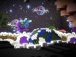 国外团队用《我的世界》打造的银河系 浩瀚宇宙尽在其中